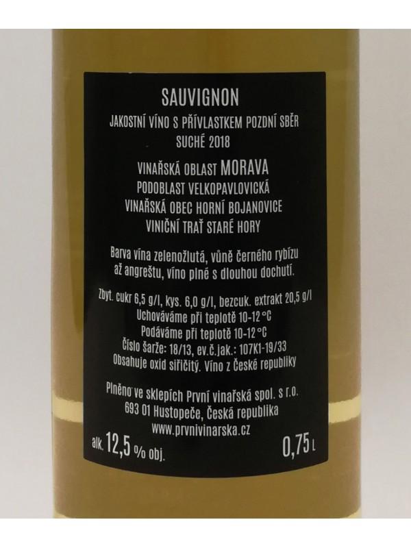 Sauvignon 2018, pozdní sběr
