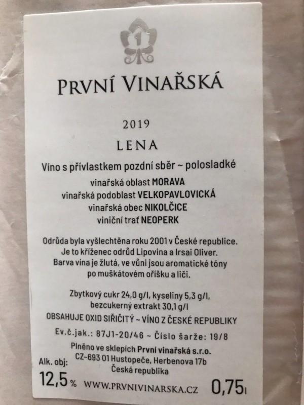 Lena 2019, pozdní sběr